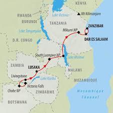 Zimbabwe Map Zimbabwe To Zanzibar 16 Day African Safari On The Go Tours