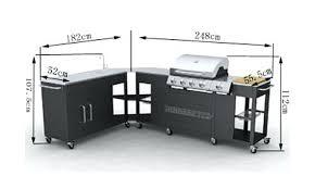 cuisine exterieure pas cher barbecue gaz inox meuble cuisine dangle modulable barbecue gaz inox