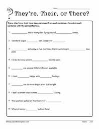 their there they re worksheet homophones worksheets circling their