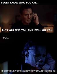 funny halloween meme liam neeson will have trouble with this one michael myers liam