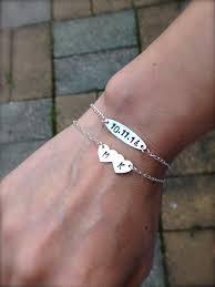 Customized Engraved Bracelets Set2 Couples Bracelet Custom Matching Bracelet Navy Blue Black