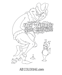 how the grinch stole christmas coloring pages coloring home