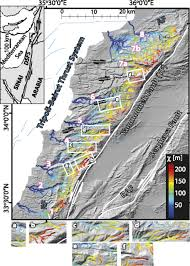 Dead Sea Map Modes And Rates Of Horizontal Deformation From Rotated River