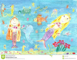 drawing of a mermaid stock illustration image 45943736