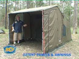 Side Awnings Oztent Side Panels And Awning Tent Accessories Bcf Youtube