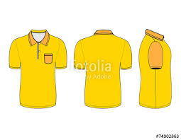 polo shirt design templates front back and side views vector