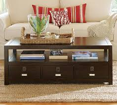Coffee Table With Drawers by Pottery Barn Coffee Table With Drawers Pk Home Potterybarn Coffee