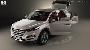 hyundai tucson 2016 white 360 view of hyundai tucson with hq interior 2016 3d model hum3d