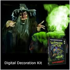 christmas window projection dvd digital decorations projector kit atmosfx witching hour dvd