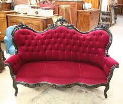 canap ancien velours nos meubles antiquités brocante vendus