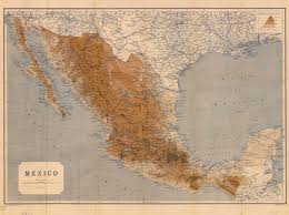 mexico map 1800 map of mexico 1919