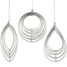wire basket ornament silver set of 3 xy820426 craftoutlet