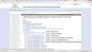 data science for rda climate change data challenge