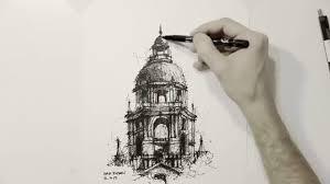 pasadena city hall architectural sketch youtube