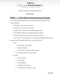 Front Desk Upselling Creating A Front Desk Professional Action Plan Round Table Summary