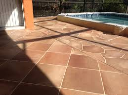 Tiling A Concrete Patio by Stained Concrete Patio Ideas Concrete Designs Florida Concrete