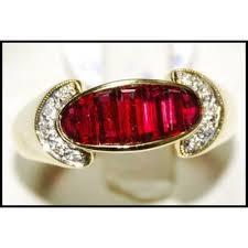 gemstone rings ruby images 18k yellow gold for men ruby gemstone diamond ring rq0018 jpg