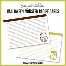 25 free printable recipe cards home cooking memories