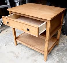 Diy Table Plans Free by Diy Bedside Table With Drawer And Shelf Free Plans