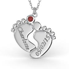 baby name necklaces baby name necklace with birthstone in sterling silver