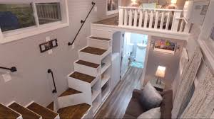 luxurious tiny house with a split level floor plan youtube