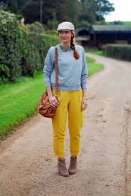 french style mustard yellow with grey marl la redoute brand
