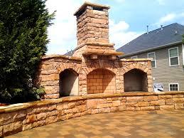 outdoor fireplace design gallery charlotte pavers u0026 stone