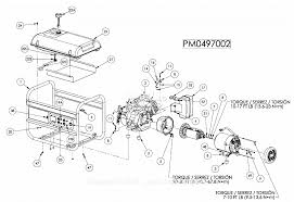 powermate formerly coleman pm0497002 parts diagram for generator parts