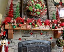 christmas mesh ribbon family room deco mesh christmas wreath and mantle