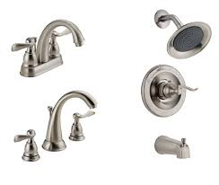 bathroom plumbing fixtures delta windemere brushed nickel