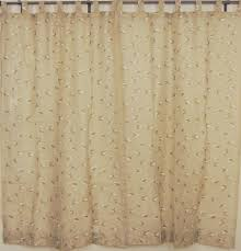 tab top sheer panels 2 embroidered ecru decorative window curtains