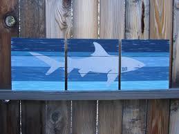 Shark Wall Art  Boys Room Decor  Kids Bathroom Decor  Shark - Kid room wall art