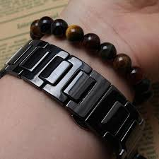 black strap bracelet images 14mm 20mm black white ceramic watchband straps bracelets for jpg