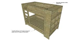 Diy Furniture Plans by Free Diy Furniture Plans How To Build A Duet Bunk Bed Trundle