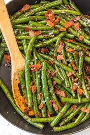skillet bourbon bacon green beans the cookie rookie