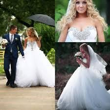 unique wedding dresses uk vintage 2015 white plus size wedding dresses rhinestone