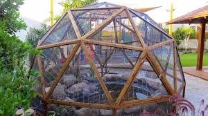 Geodesic Dome House Geodesic Dome From Wood Construction Stage 4 Cage Wire Inserts
