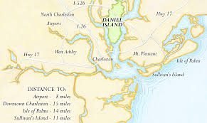 Map Of Charleston South Carolina Daniel Island South Carolina Map Georgia Map