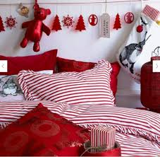 add a touch of color and flair in to your christmas bedroom