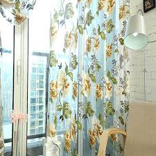 Curtain Drapes Sheer Curtains 270cm X 100cm Door Room Flower Tull Window