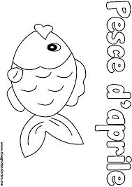 dessins à colorier coloriage poisson avril à imprimer