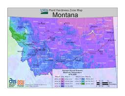 Montana Time Zone Map by Plant Hardiness Zones The How Do Gardener
