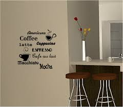 coffee wall art sticker vinyl quote kitchen cafe coffee recipes