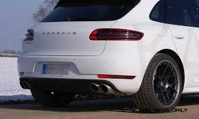 2015 porsche macan s white porsche macan diesel with kaege de active exhaust