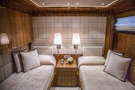 luxury motor yacht okko twin cabin with an extra fold down bed