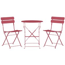 Pink Outdoor Furniture by City Furniture Roma Pink Round Table U0026 2 Chairs