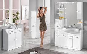 armadietto bagno componibile bagno con pensile a destra bianco misure 108x53x190