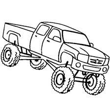 monster truck higher education bus coloring kids
