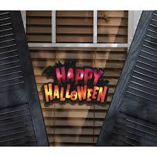 halloween lights at walmart lighted happy halloween window decoration walmart com