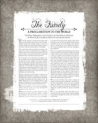 family proclamation lds family proclamation digital file lds relief